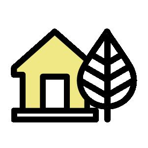 Ympäristöystävällisen talon ikoni