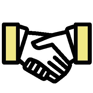 Kädenpuristuksen ikoni