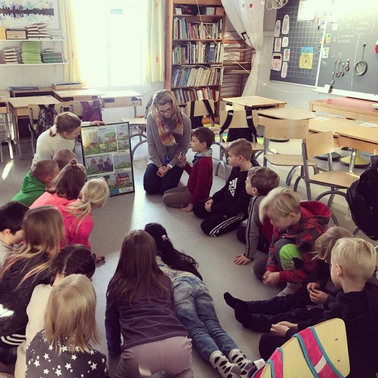 Energia-aiheinen oppitunti Ali-Keravan koululla